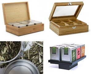 Tea boxes and tea tins