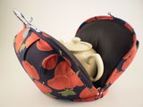 Teacosy with clip: cherries pattern_