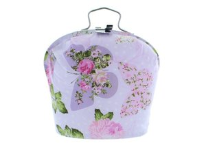 Teacosy with clip: Butterfly Purple pattern