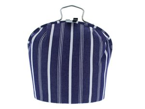 Teacosy with clip: Dark Blue Stripe pattern