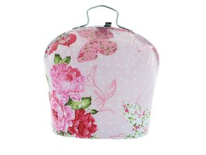Teacosy with clip: Butterfly Pink pattern