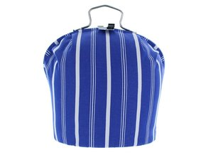 Teacosy with clip: Blue Stripe pattern