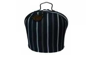 Teacosy with clip: black and white pattern