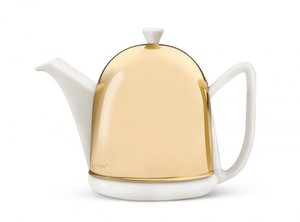 Cosy® Manto Teapot  White 1.0 L - Messing Cover