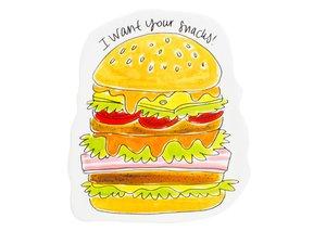 Blond Amsterdam 3D Snack Plate Hamburger