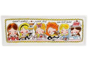 Blond Amsterdam Cake plate 12 x 33 cm