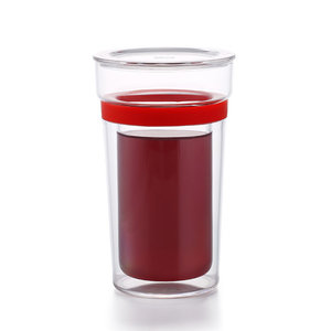 Samadoyo Double walled glass red 350 ml