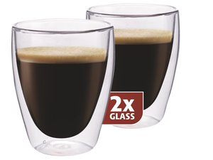 Thermo-glass set of two: Coffee 235 ml.