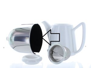 Bredemeijer Cosy Manto Teapot White/Black 1.0 L, replacement felt lining