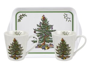 Spode - Christmas Tree Mug and Tray Set