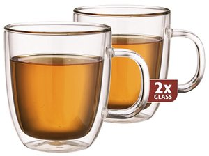 Thermo-glass set of two: Extra Tea 480 ml