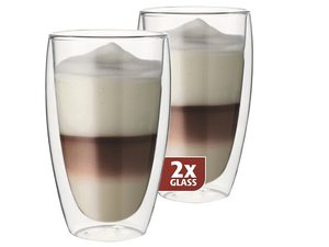 Thermo-glass set of two: Latte 380 ml