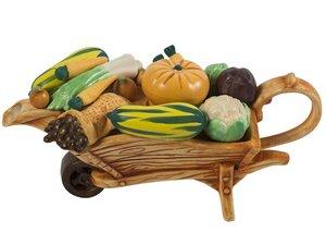Wheelbarrow Vegetables Teapot