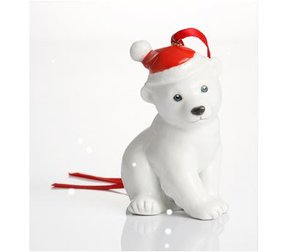 Franz Holiday Greetings Polar Bear Ornament