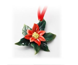 Franz Holiday Classic Poinsettia Flower Ornament