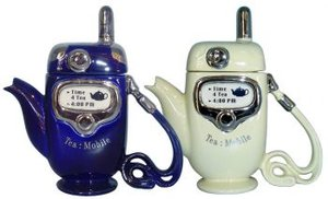 Mobile Phone - Blue One Cup Teapot