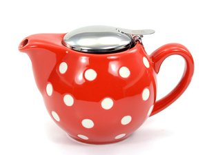 Chacult Saara Red teapot with white dots 0,5 lt