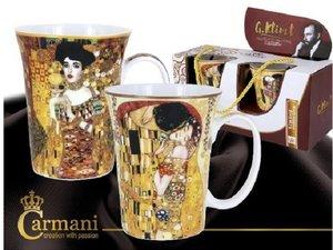 Carmani Set of 2 Mugs - Klimt The Kiss (Light) and Judith I