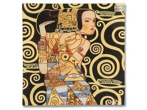 Carmani glass cake plate - Gustav Klimt Expectation
