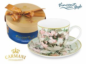Carmani Cup and Saucer - Van Gogh Vase with Roses