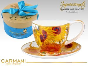 Carmani Cup and Saucer - Van Gogh Sunflowers