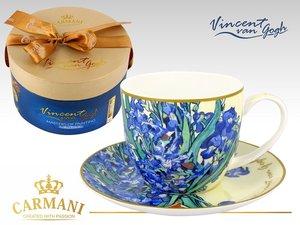 Carmani Cup and Saucer - Van Gogh Irises