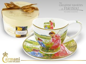 Carmani Cup and Saucer - Impressionist
