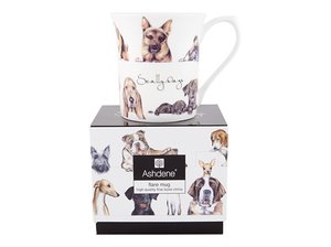 Ashdene Scally Dogs mug in gift box