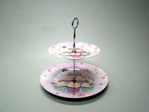Cake Stand 2 tiered, Cakes