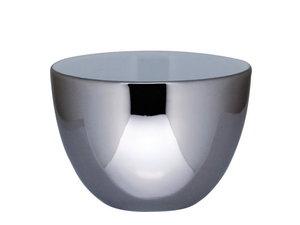 Bredemeijer Lotus Ceramic Teacups. set of 2, Silver
