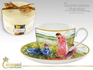 Carmani Cup and Saucer - Impressionist II