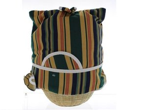 Teacosy with basket: Brown Green stripe