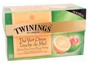 Twinings Green Tea Lemon with a touch of honey 20 Teabags (32 grams)