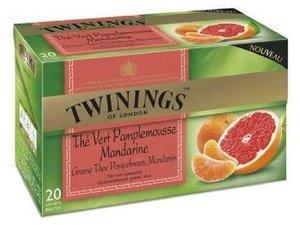 Twinings Green Tea Grapefruit & Tangerine 20 Teabags (32 grams)