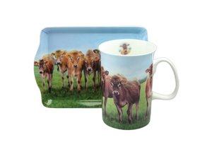 Ashdene Jersey Cow Snack Set