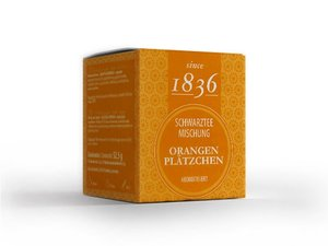 Black Tea - Orange Cookies 15 Pyramid Teabags(60 grams / € 8,25 per 100 grams)