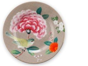 Pip Studio Petit Four Plate Blushing Birds Khaki