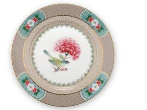 Pip Studio Pastry Plate Blushing Birds Khaki 17 cm