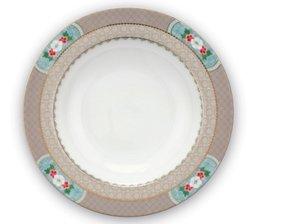Pip Studio Soup Plate Blushing Birds Khaki 21,5 cm