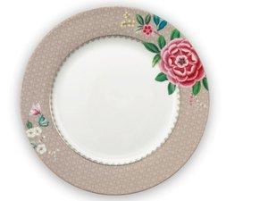 Pip Studio Dinner Plate Blushing Birds Khaki 26,5 cm