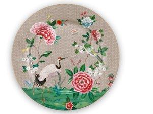 Pip Studio Underplate Blushing Birds Khaki 32 cm