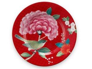Pip Studio Petit Four Plate Blushing Birds Red