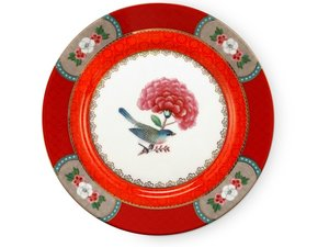 Pip Studio Pastry Plate Blushing Birds Red 17 cm
