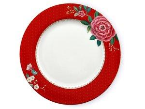 Pip Studio Dinner Plate Blushing Birds Red 26,5 cm