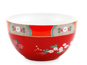 Pip Studio Bowl Blushing Birds Red 18 cm