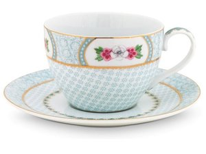 Pip Studio Cappuccino cup and saucer Blushing Birds White