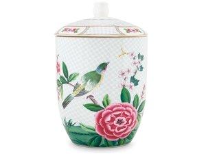 Pip Studio Storage Jar Blushing Birds White