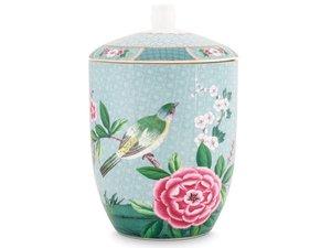 Pip Studio Storage Jar Blushing Birds Blue
