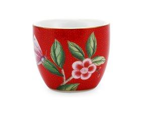 Pip Studio Egg Cup Blushing Birds Red
