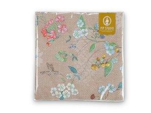 Pip Studio Paper Napkins Hummingbird Khaki
